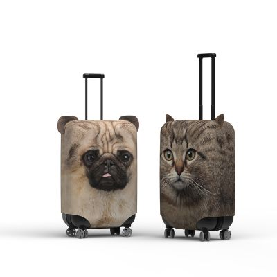 Kuffertovertræk med ører hund og kat