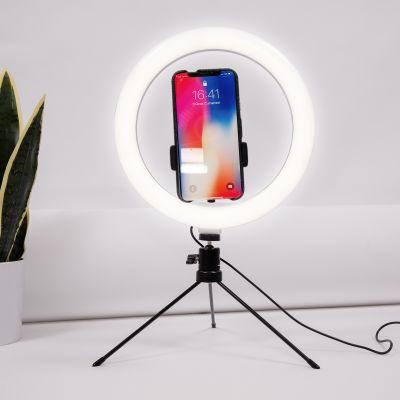Selfiestativ med LED-ring