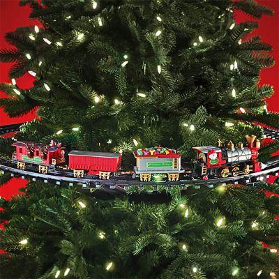Togbane som juletræsdekoration