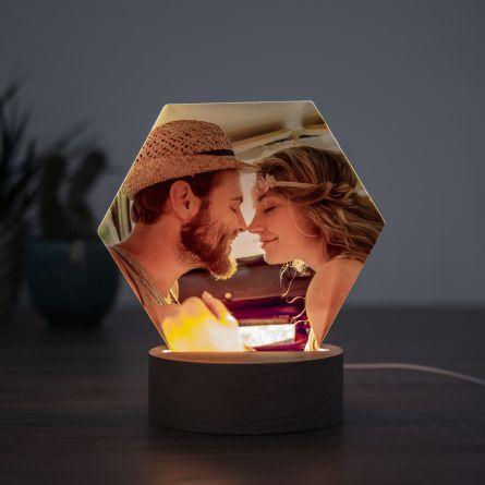 LED-lampe med foto
