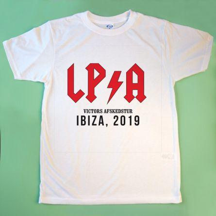 Personaliseret t-shirt med tekst