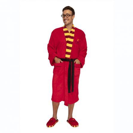 Harry Potter Morgenkåbe med briller og lyn logo