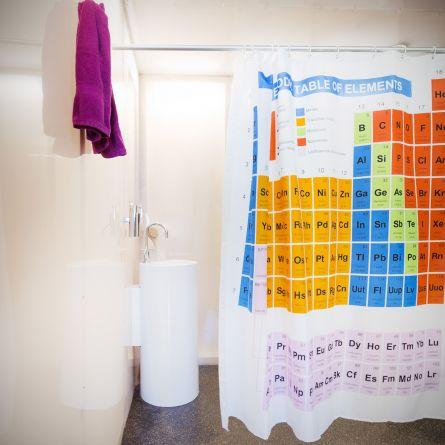 Badeforhæng med det periodiske system