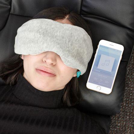 Sovemaske med Bluetooth-hovedtelefoner