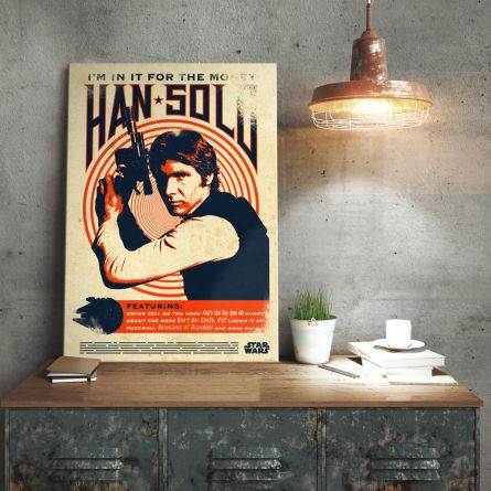 Star Wars Metalplakat - Han Solo Retro