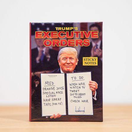 Post-it-sedler med ordrer fra præsidenten