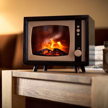Elektrisk mini pejs TV