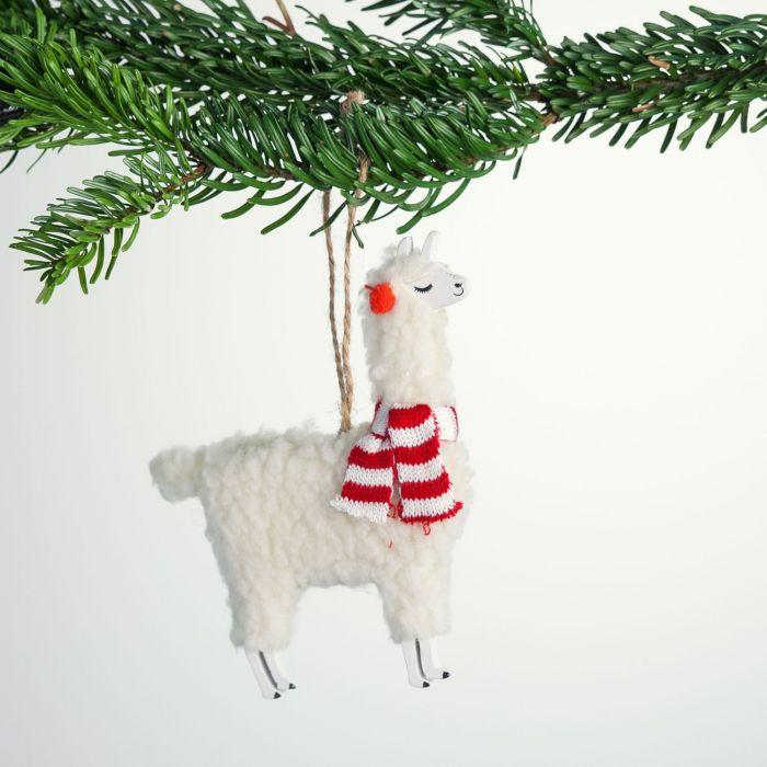 Lama juletræsudsmykning