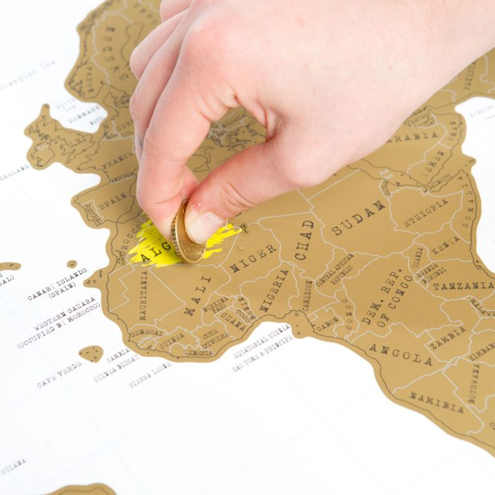 Skrabe Verdenskort Scratch Map