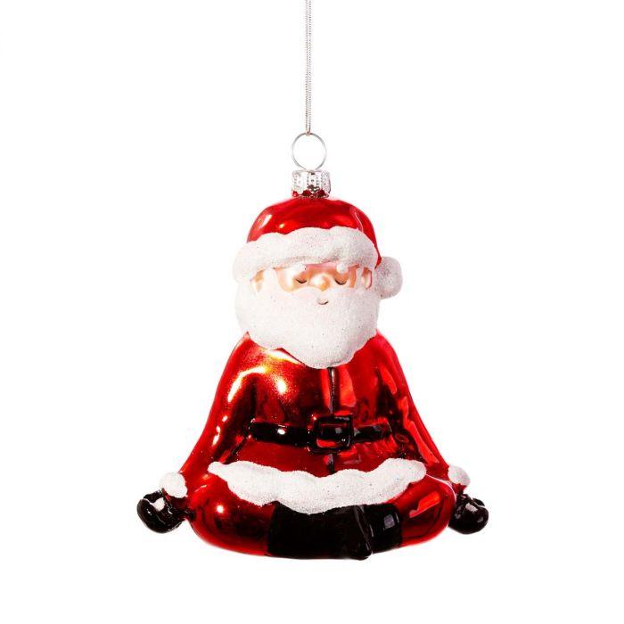 Santa yoga juletræspynt