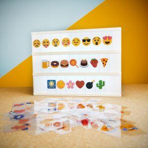 Emojisæt til Biograf Neonskilt - bordlampe