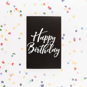 Det uendelige fødselsdagskort med glitter