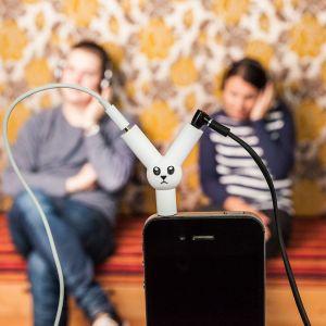 Jack Rabbit hovedtelefon-splitter