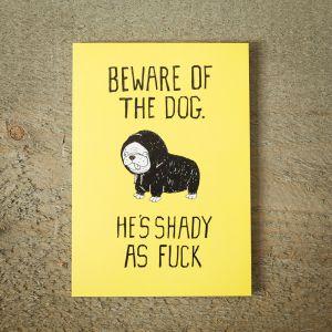 Lykønskningskort - Shady Dog