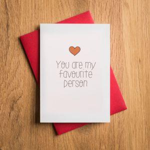 Kærlighedskort til din absolutte yndling