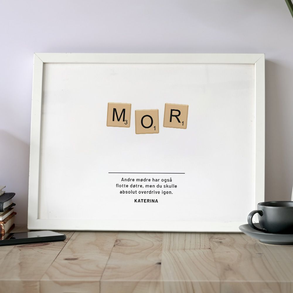 081d785f627 Personaliseret Scrabble plakat | Radbag.dk