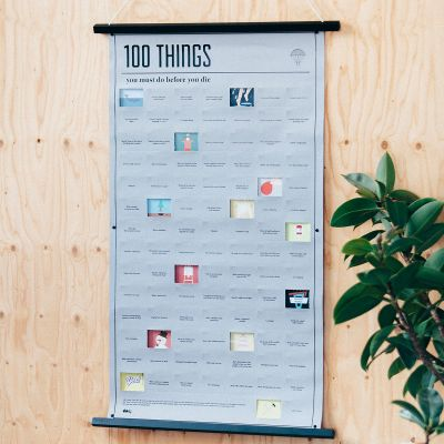Plakat - Plakat 100 ting at gøre inden du dør