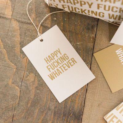 Sjove gaver - Lige på grænsen gavepapir