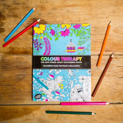 Sjov og spas - Malebog - farveterapi imod stress