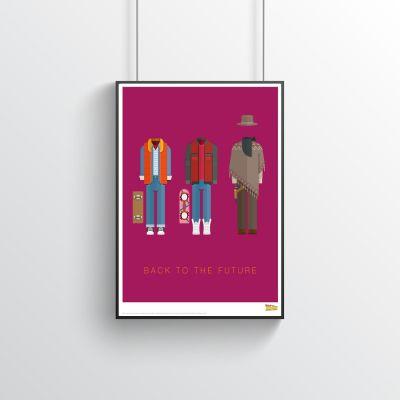 Plakat - Tilbage til fremtiden - filmplakat med kostumer