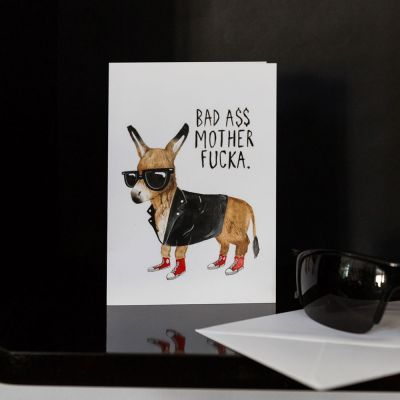 30 års fødselsdagsgave - Lykønskningskort - Bad Ass