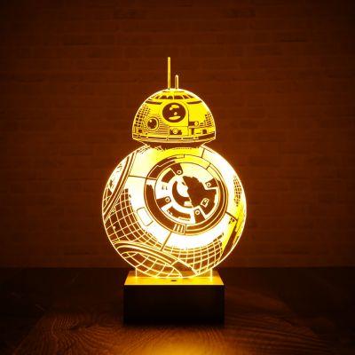 Gaver til bror - Star Wars BB-8-lampe med 3D-effekt