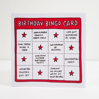 18 års fødselsdagsgave - Fødselsdagskort Birthday Bingo