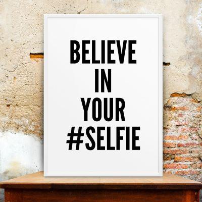 Plakat - Selfie Plakat af MottosPrint
