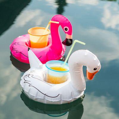 Strand & hav - Svømmende fugl som drinkholder - Sæt med 3