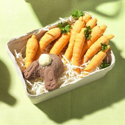 Sødt - Kanin og Gulerødder af Chokolade