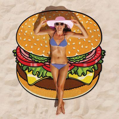Badeværelse - Cheeseburger Strandhåndklæde
