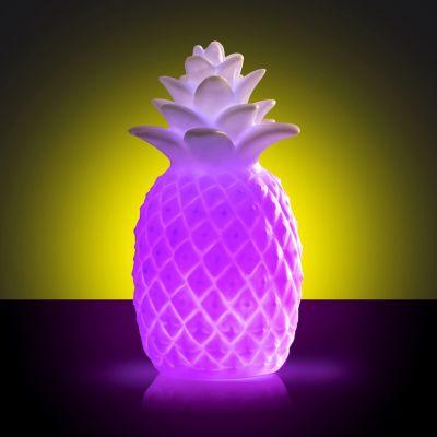 30 års fødselsdagsgave - Ananaslampe med skiftende farve