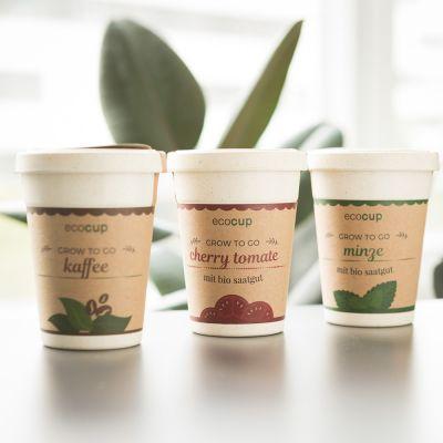 Køkken & grill - ecocup - planter i kaffekrus