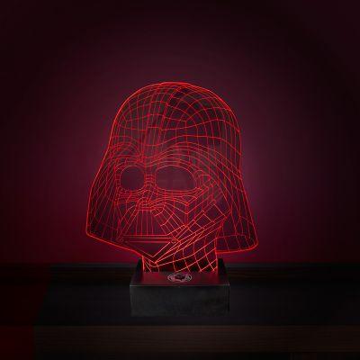 Gave til far - Star Wars Darth Vader Lampe med 3D-effekt