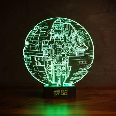 Gave til far - Star Wars Dødsstjernen lysende med 3D-effekt