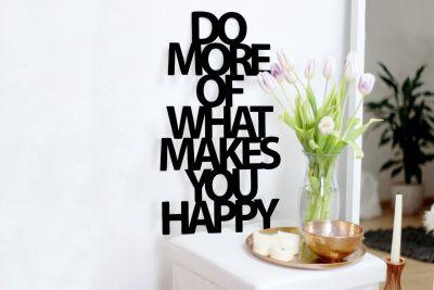 Bryllupsgave - Træbogstaver: Do more what makes you happy