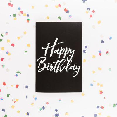 Gaver til børn - Det uendelige fødselsdagskort med glitter