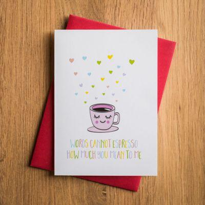 Nyt - Valentinskort Espresso