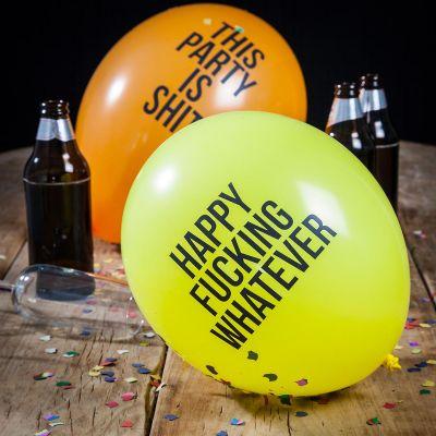 Karneval og Fastelavn - Slemme balloner - 12 stk.