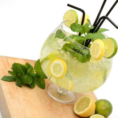 Kopper og glas - Fiskebowle cocktailglas