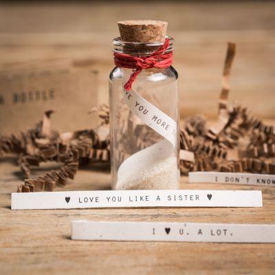 Valentinsdags gaver - Flaskepost Sæt