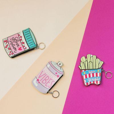 Homewear & accessoires - Sjove møntpunge med nøglering