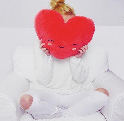 Valentinsdags gaver - Opvarmelig hjerte pude