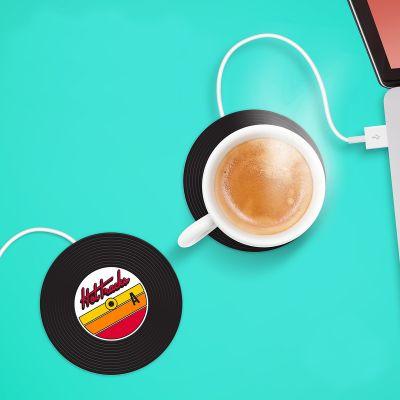 40 års fødselsdagsgave - USB kopvarmer med design som en mini-LP