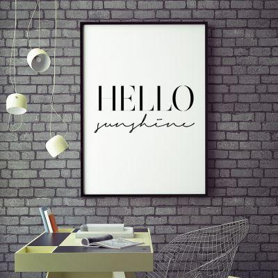 Plakat - Hello Sunshine Plakat af MottosPrint