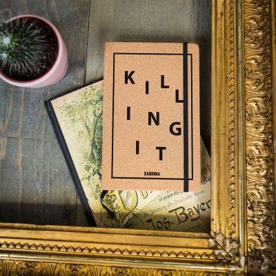 18 års fødselsdagsgave - Customizable Kork notesbog - Killing It