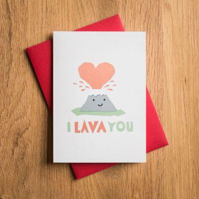 Gave til en pigeven - Valentinskort I Lava You