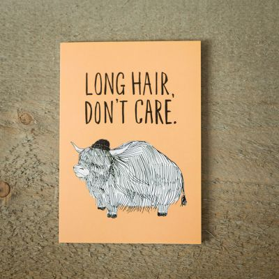 Kort - Lykønskningskort Long Hair