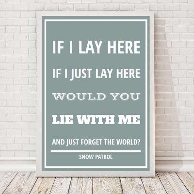 Bryllupsdagsgave - Sangtekst - Personlig Plakat