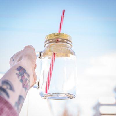 Kopper og glas - Mason Jars med Hank - Sæt med 4